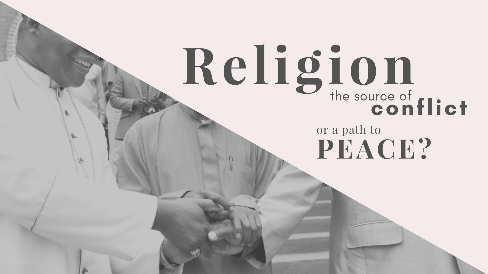 religion source of conflict or peace In a word, middle east experts say, religion  how it became a religious war  view of iran and assad that this will lead to peace all they,.